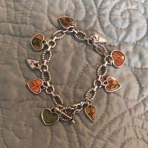 Bright heart charm bracelet